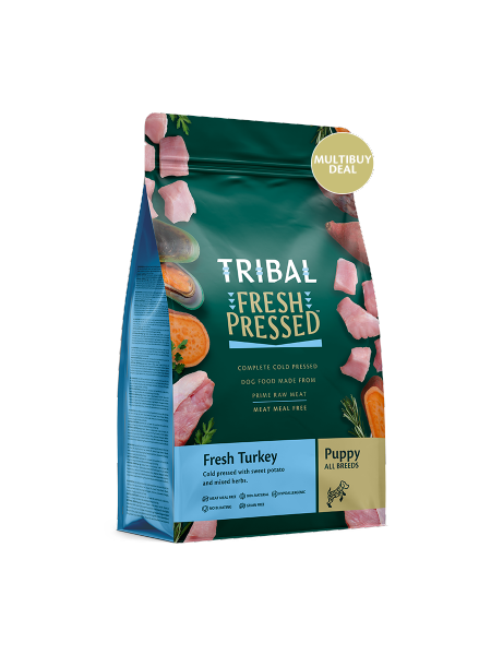 TRIBAL FRESH PRESSED FROM RAW – Fresh Turkey – Puppy