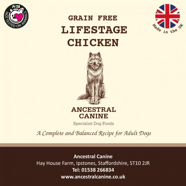 LIFESTAGE CHICKEN and Sweet Potato – Super Premium Grain Free For All Life Stages (12kg)