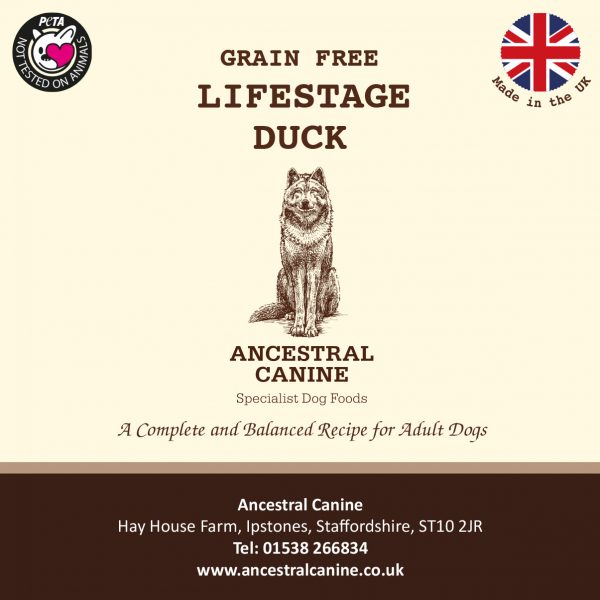 LIFESTAGE DUCK and Sweet Potato – Super Premium Grain Free For All Life Stages (12kg)