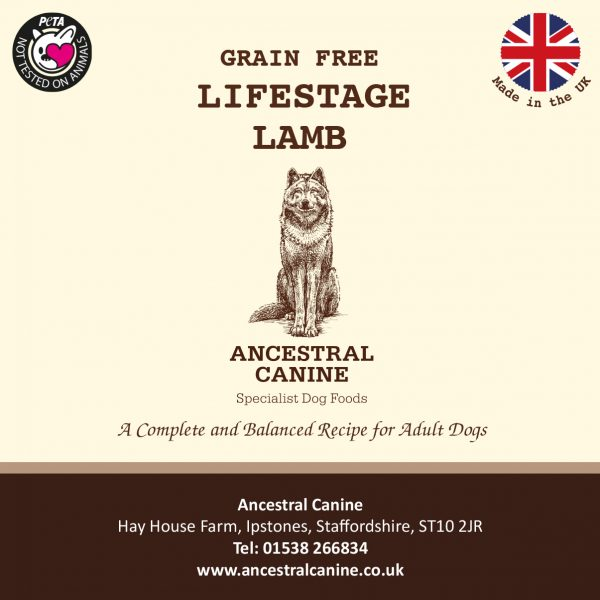 LIFESTAGE LAMB and Sweet Potato – Super Premium Grain Free For All Life Stages (12kg)