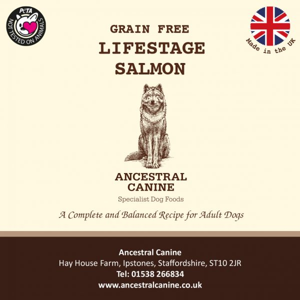 LIFESTAGE SALMON – Super Premium Grain Free For All Life Stages (12kg)